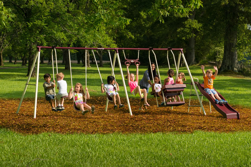 Flexible Flyer Play Park Metal Swing Set Assembly Impossible
