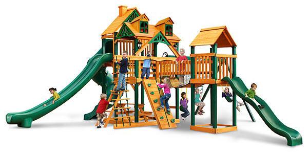 Gorilla Playsets Treasure Trove Swing Set Brings The