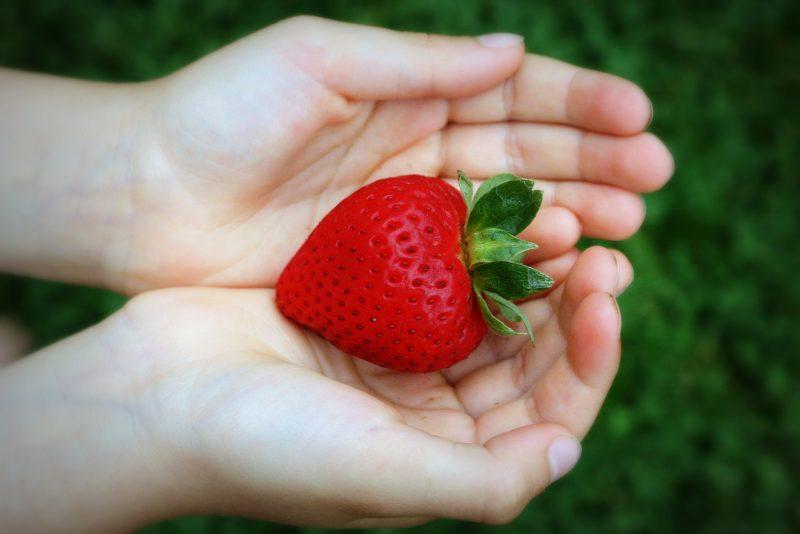 strawberry-hands