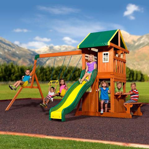 Backyard Discovery Oakmont Wooden Swing Set