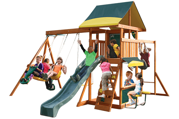 Cedar Summit Brookridge Wooden Swing Set
