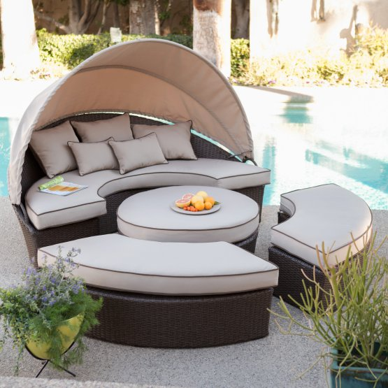 If It S Too Sunny You Can Use The Canopy To Cover Yourself For Shade Furniture Has Olefin Fabric Is Resistant Water Fading Odor Bacteria