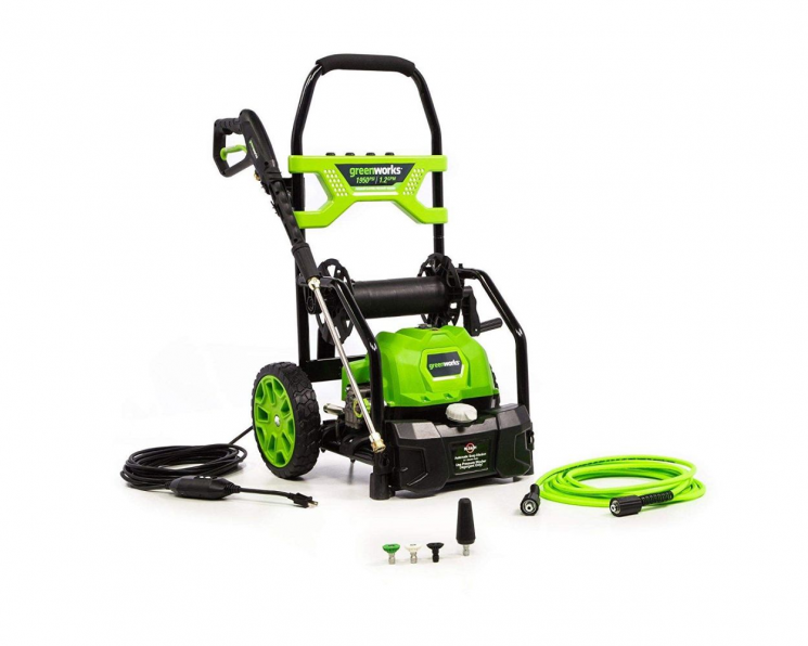 1950-PSI 13 Amp 1.2-GPM Electric Open Frame Pressure Washer by Greenworks