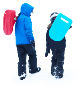 Kids with Zipfy Sled