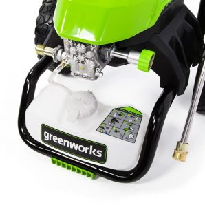 Greenworks 2000-PSI Soaping