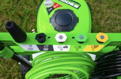 Greenworks Pro 2300-PSI 14 Amp 2.3-GPM Electric Pressure Washer Nozzles