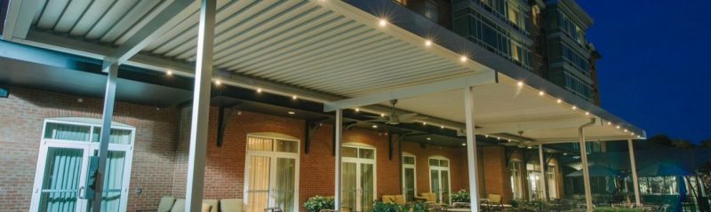 Louvered Roof Closed with Lights