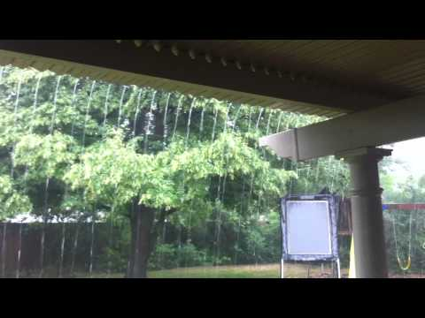 Louvered Roof in Rain